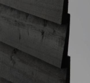 Q-CLAD BLACK 1 COAT (175mm) FEATHEREDGE