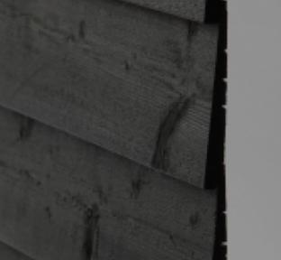 Q-CLAD BLACK 2 COAT + REBATED (175mm) FEATHEREDGE